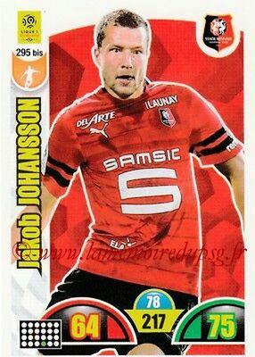 2018-19 - Panini Adrenalyn XL Ligue 1 - N° 295 bis - Jakob JOHANSSON (Rennes)