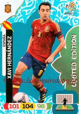 Panini Euro 2012 Cards Adrenalyn XL - N° LE20 - Xavi HERNANDEZ (Espagne) (Limited Edition)