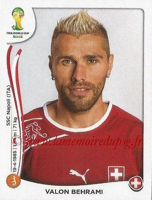 2014 - Panini FIFA World Cup Brazil Stickers - N° 347 - Valon BEHRAMI (Suisse)