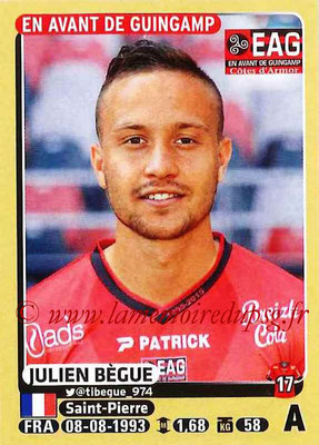 2015-16 - Panini Ligue 1 Stickers - N° 140 - Julien BEGUE (EA Guingamp)