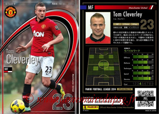 Panini Football League 2014 - PFL08 - N° 059 - Tom CLEVERLEY (Manchester United) (Star +)