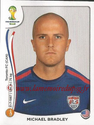 2014 - Panini FIFA World Cup Brazil Stickers - N° 555 - Michael BRADLEY (Etats-Unis)