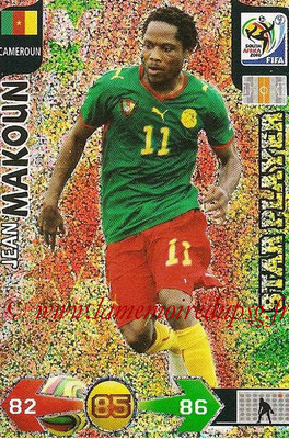2010 - Panini FIFA World Cup South Africa Adrenalyn XL - N° 063 - Jean MAKOUN (Cameroun) (Star Player)