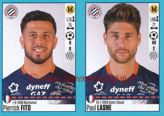2016-17 - Panini Ligue 1 Stickers - N° 536 + 537 - Pierrick FITO + Paul LASNE (Montpellier)