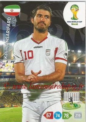 2014 - Panini FIFA World Cup Brazil Adrenalyn XL - N° 206 - Karim ANSARIFARD (Iran)