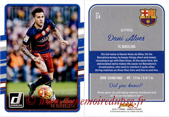 2016 - Panini Donruss Cards - N° 024 - Dani ALVES (FC Barcelone)