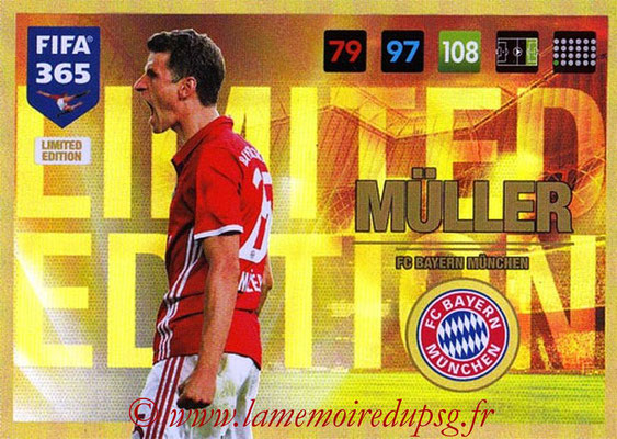 2016-17 - Panini Adrenalyn XL FIFA 365 - N° LE20 - Thomas MÜLLER (FC Bayern Munich) (Limited Edition)