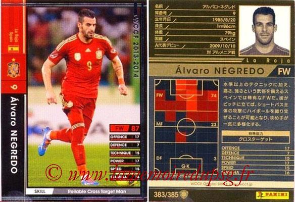 2013-14 - WCCF - N° 383 - Alvaro NEGREDO (Espagne)