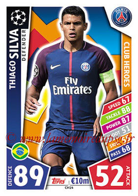 2017-18 - Topps UEFA Champions League Match Attax - N° CH14 - Thiago SILVA (Paris Saint-Germain) (Club Heroes)