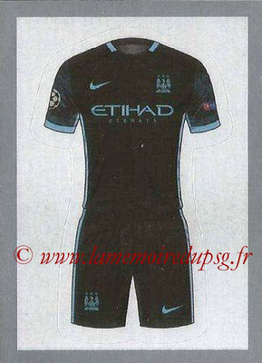 2015-16 - Topps UEFA Champions League Stickers - N° 225 - Maillot Exterieur Manchester City FC