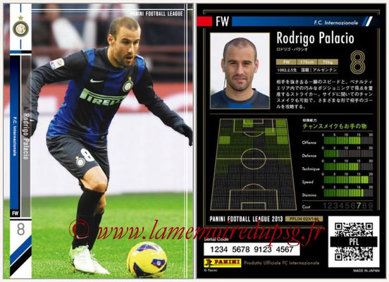 Panini Football League 2013 - PFL04 - N° 023 - Rodrigo PALACIO (Inter Milan)