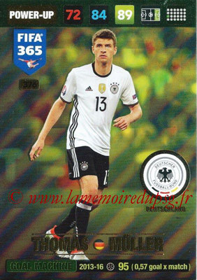 2016-17 - Panini Adrenalyn XL FIFA 365 - N° 376 - Thomas MÜLLER (Allemagne) (Goal Machine)