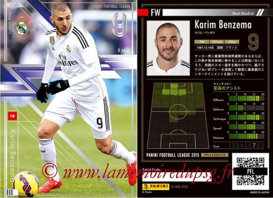 Panini Football League 2015 - PFL14 - N° 043 - Karim BENZEMA (Real Madrid CF) (Star)