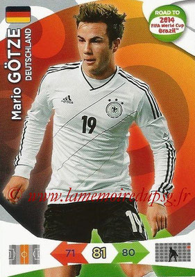 2014 - Panini Road to FIFA World Cup Brazil Adrenalyn XL - N° 052 - Mario GOTZE (Allemagne)