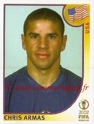 2002 - Panini FIFA World Cup Stickers - N° 286 - Chris ARMAS (Etats-Unis)