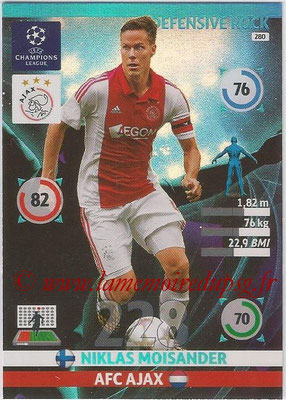 2014-15 - Adrenalyn XL champions League N° 280 - Niklas MOISANDER (AFC Ajax) (Defensive Rock)