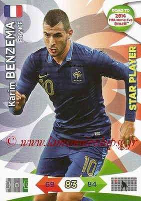 2014 - Panini Road to FIFA World Cup Brazil Adrenalyn XL - N° 098 - Karim BENZEMA (France) (Star Player)