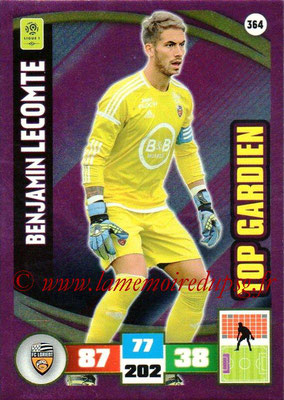 2016-17 - Panini Adrenalyn XL Ligue 1 - N° 364 - Benjamin LECOMTE (Lorient) (Top Gardien)