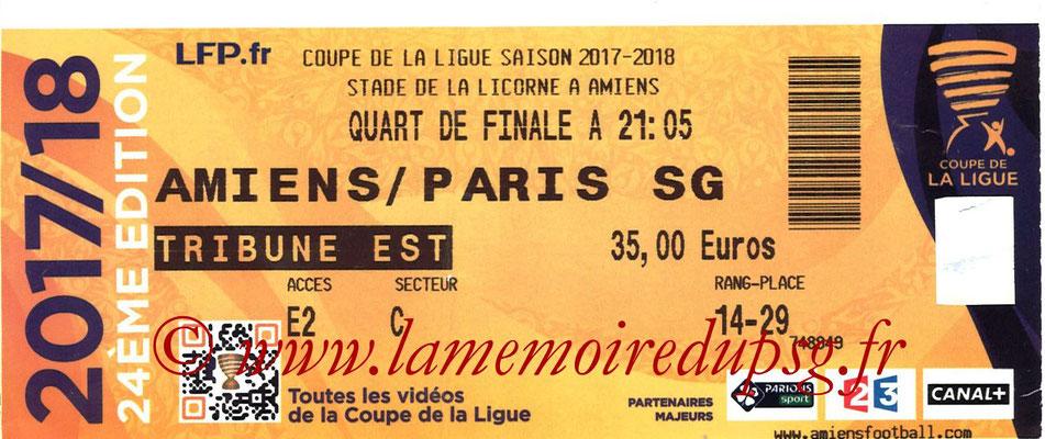 Ticket  Amiens-PSG  2017-18
