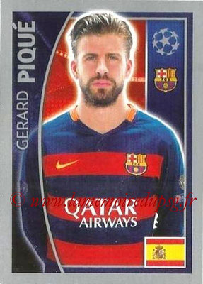 2015-16 - Topps UEFA Champions League Stickers - N° 307 - Gerard PIQUÉ (FC Barcelone)