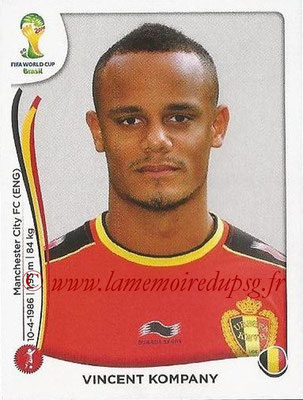 2014 - Panini FIFA World Cup Brazil Stickers - N° 567 - Vincent KOMPANY (Belgique)
