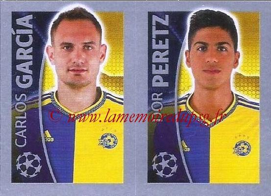 2015-16 - Topps UEFA Champions League Stickers - N° 507 - Carlos GARCIA + Dor PERETZ (Maccabi Tel-Aviv FC)