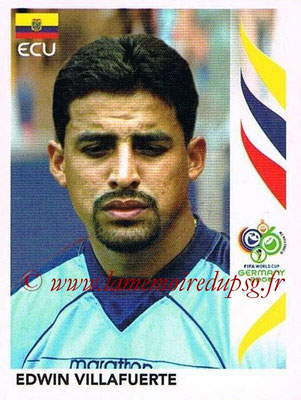 2006 - Panini FIFA World Cup Germany Stickers - N° 092 - Edwin VILLAFUERTE (Equateur)