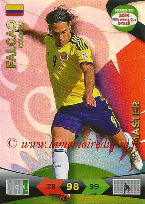2014 - Panini Road to FIFA World Cup Brazil Adrenalyn XL - N° 223 - FALCAO (Colombie) (Master)