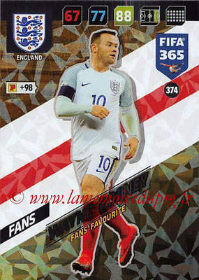 2017-18 - Panini FIFA 365 Cards - N° 374 - Wayne ROONEY (Angleterre) (Fans' Favourite)