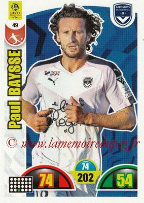 2018-19 - Panini Adrenalyn XL Ligue 1 - N° 049 - Paul BAYSSE (Bordeaux)