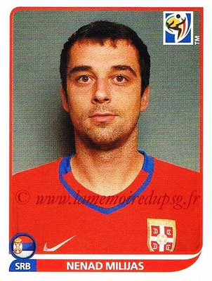 2010 - Panini FIFA World Cup South Africa Stickers - N° 308 - Nemad MILIJAS (Serbie)