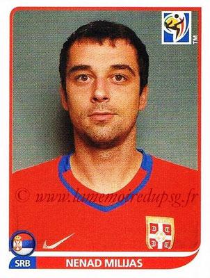 2010 - Panini FIFA World Cup South Africa Stickers - N° 308 - Nemad MILIJAS (Serbie)