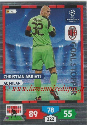 2013-14 - Adrenalyn XL champions League N° 328 - Christian ABBIATI (AC Milan) (Goal Stopper)