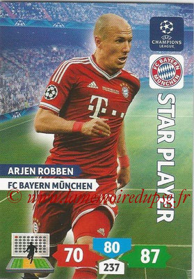 2013-14 - Adrenalyn XL champions League N° 088 - Arjen ROBBEN (FC Bayern Munich) (Star Player)