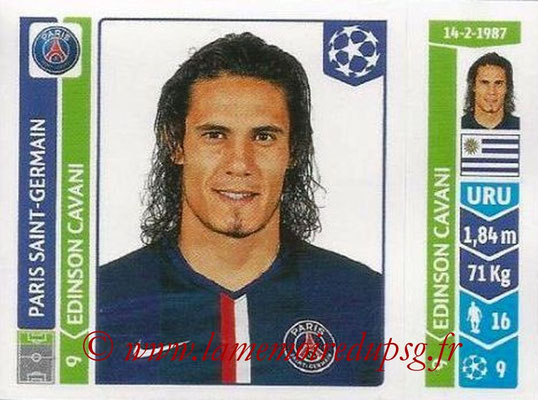 2014-15 - Panini Champions League N° 443 - Edinson CAVANI (Paris Saint-Germain)