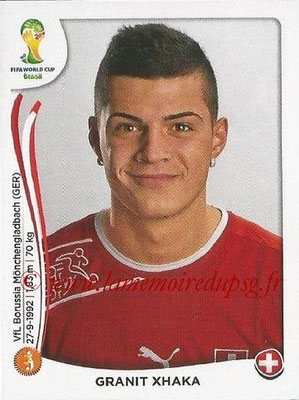 2014 - Panini FIFA World Cup Brazil Stickers - N° 349 - Granit XHAKA (Suisse)