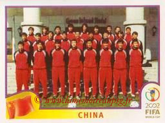 2002 - Panini FIFA World Cup Stickers - N° 205 - Equipe Chine
