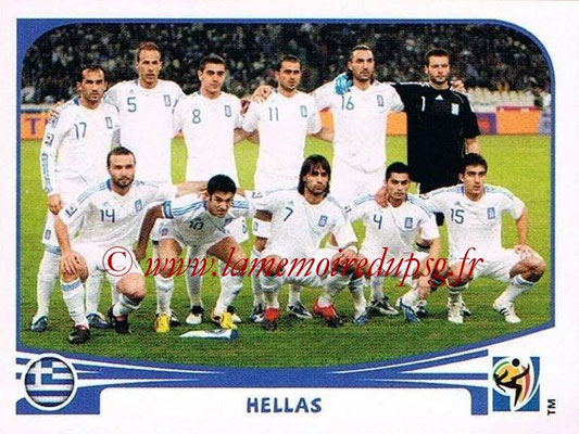 2010 - Panini FIFA World Cup South Africa Stickers - N° 163 - Équipe Grèce