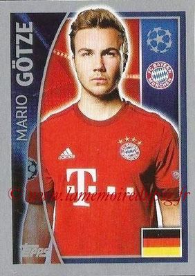 2015-16 - Topps UEFA Champions League Stickers - N° 385 - Mario GÖTZE (FC Bayern Munich)