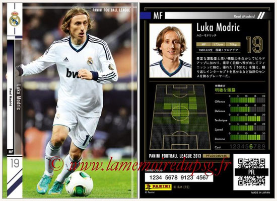 Panini Football League 2013 - PFL04 - N° 046 - Luka MODRIC (Real Madrid)