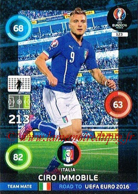 Panini Road to Euro 2016 Cards - N° 123 - Ciro IMMOBILE (Italie)