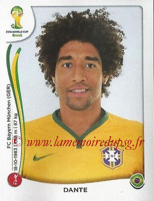 2014 - Panini FIFA World Cup Brazil Stickers - N° 039 - DANTE (Brésil)