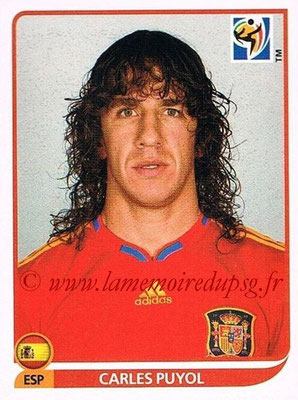 2010 - Panini FIFA World Cup South Africa Stickers - N° 565 - Carles PUYOL (Espagne)