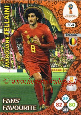 2018 - Panini FIFA World Cup Russia Adrenalyn XL - N° 364 - Marouane FELLAINI (Belgique) (Fans' Favourite)