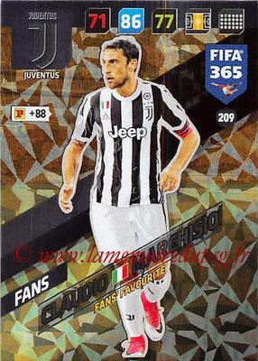 2017-18 - Panini FIFA 365 Cards - N° 209 - Claudio MARCHISIO (Juventus) (Fans' Favourite)