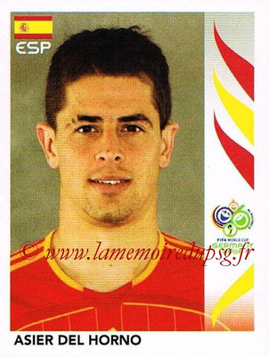 2006 - Panini FIFA World Cup Germany Stickers - N° 533 - Asier DEL HORNO (Espagne)