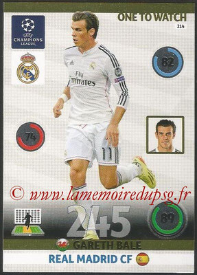 2014-15 - Adrenalyn XL champions League N° 214 - Gareth BALE (Real Madrid CF) (One to watch)