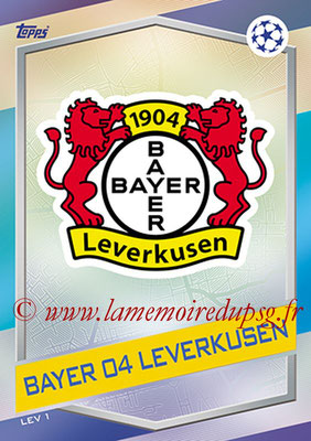 2016-17 - Topps UEFA Champions League Match Attax - N° LEV1 - Logo Bayer 04 Leverkusen