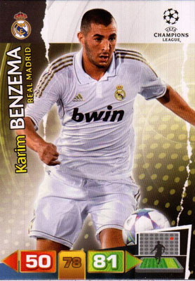 2011-12 - Panini Champions League Cards - N° 235 - Karim BENZEMA (Real Madrid CF)