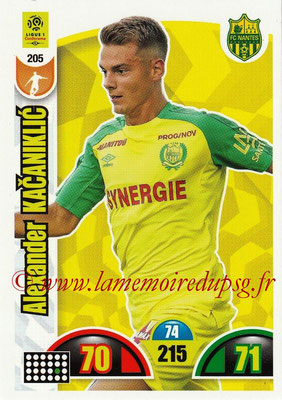 2018-19 - Panini Adrenalyn XL Ligue 1 - N° 205 - Alexander KACANIKLIC (Nantes)